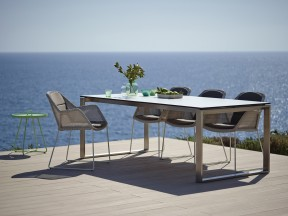 Breeze armchair, Edge table