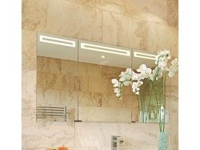 LED lighted mirror bathroom/medicine cabinet