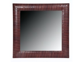 Contemporary Laura Weave Leather Framed Mirror