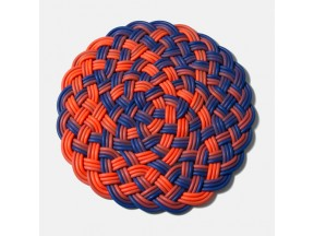Shore Rug, Small Circle in Blue/Orange