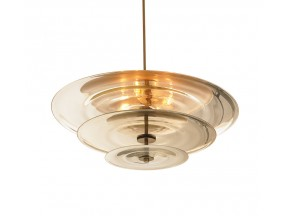 Nested Mirrored Discs Chandelier