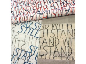 In Writing: STAND WITH / WITH STAND