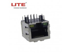 RJ45 8P8C CONNECTOR WITH LED TRANSFORMER