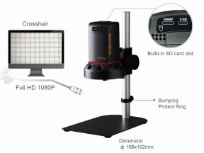 ViTiny UM10 Tabletop Digital Autofocus HDMI/USB Dual Connection Microscope for PCB Visual Inspection