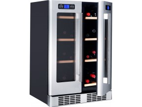 KUCHT 38-Bottle Dual Zone Wine Cooler Built-in with Compressor in Stainless Steel