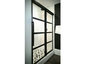 Gridscape GS2 Series Divided-Light Sliding Soft-Close Shower Door