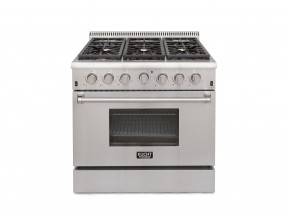 "KUCHT 36"" Pro-Style Gas Range in Stainless Steel"