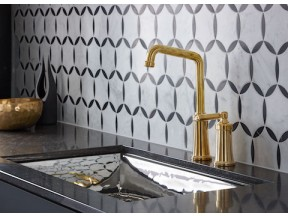 Quincy Unlacquered Brass Faucet