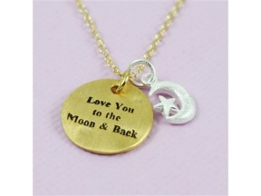 Gold love you to the moon & back necklace