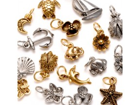 Assorted Cast Pewter Charms