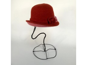 Boiled Wool Two-tone Turn Brim Hat