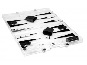 Clear Lucite Backgammon Set