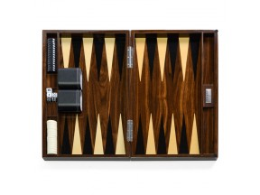 Brown Wooden Lacquer Backgammon Set