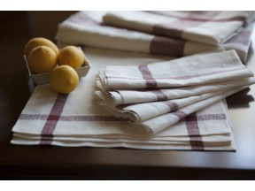 Red Stripes - Table linen