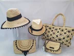 Raffia Crochet hats and bags