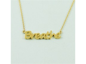 Gold Breathe Necklace