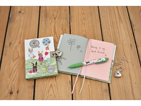 Lockable notebooks with scented pens