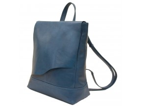 Leather Backpack with Raw Edge Flap