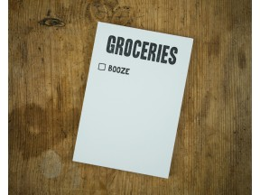 Groceries: Booze list pad