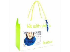 Urban Cowl - learn to knit kit with video course for absolute beginners