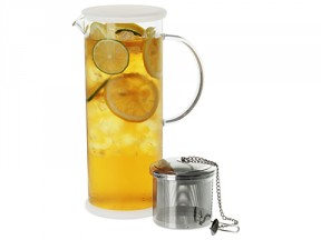 Lucent Glass Iced Tea Jug w/ Capsule Infuser 48 oz. / 1420 ml.