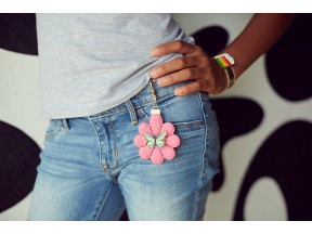 Flower Zipper Pull
