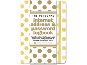 Gold Dots Internet Password Logbook