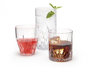 Aurora Drinkware Collection in Crystal