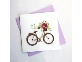 Bike with Flowers Greeting Card