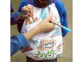 the doodle backpack to personalize