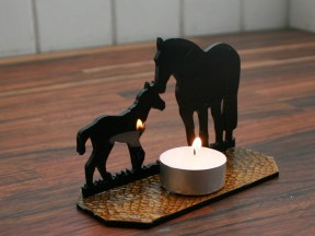 Motherly love, candle holder