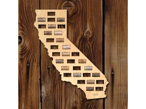 Wine Cork Map of California