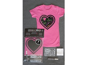 Chalk of the Town T-Shirt - Girls Heart