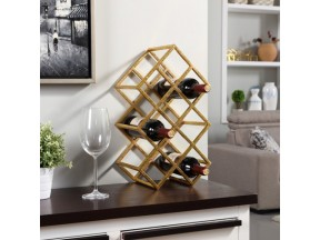 Danya B™ Sparkling Gold 9 Bottle Wine Rack