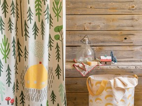Retreat Shower Curtain And Hamper