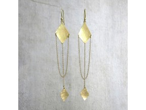 Diamond Shapes and Chain Drop Earrings