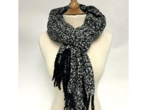 Tweed Design Scarf with Fringe