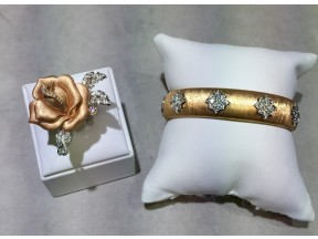 Rose Ring and Rose Gold Bangle