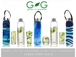 Glass is Greener bottles