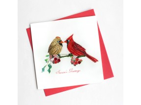 Holiday Cardinal Greeting Card