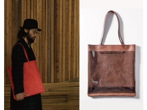 Tote Bag Carding Leather × Vinyl