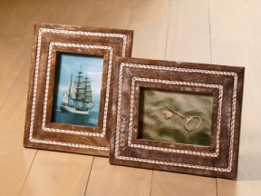 Wood and Rope Frames, Assortment of 2