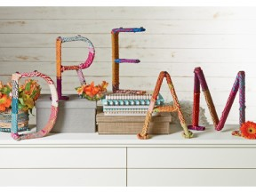 Colored Jute Letters