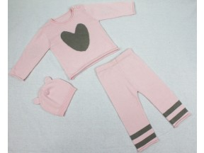 Baby Mode Signature Heart Knit Set