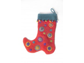Ruby Red Circles Stocking