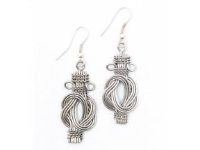 Buddha Knot Earrings - Silver