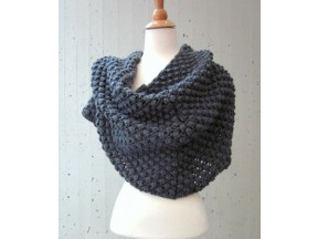 Hand Knit Bubble Textured Cowl