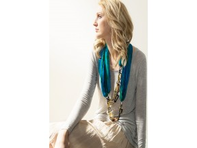 Hand Silk Necklace Scarf