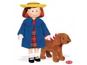 "Madeline 8"" Poseable Doll w/4"" Genevieve Dog"