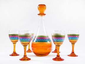 Magic rainbow wine set